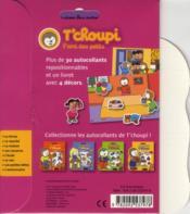 Autocollants T'choupi ; anniversaire - 4ème de couverture - Format classique