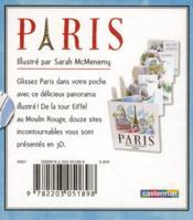 Petit pop-up panoramique t.1 ; Paris - 4ème de couverture - Format classique