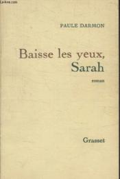 Baisse Les Yeux Sarah. - Couverture - Format classique
