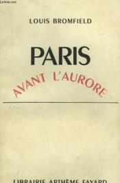 Paris Avant L'Aurore. - Couverture - Format classique