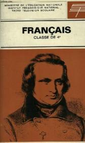 FRANCAIS, CLASSE DE 4e - Couverture - Format classique