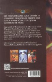 The Kane chronicles t.3 ; l'ombre du serpent - 4ème de couverture - Format classique