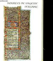 Sources De Sagesse Persane - Couverture - Format classique