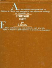 L'Expression Ecrite Reflexions Et Perspectives - Couverture - Format classique