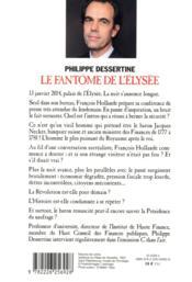 Le fantôme de l'Elysée ; visite impromptue du Baron Necker à François Hollande - 4ème de couverture - Format classique