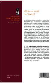 Médias et laïcité au Sénégal - 4ème de couverture - Format classique