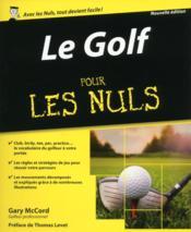 Le golf pour les nuls - Couverture - Format classique
