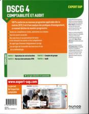 DSCG 4 - comptabilité et audit ; réforme expertise comptable - 4ème de couverture - Format classique