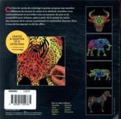 Cartes à gratter ; savane - 4ème de couverture - Format classique