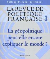 La revue politique francaise t.3 - Intérieur - Format classique