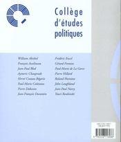 La revue politique francaise t.3 - 4ème de couverture - Format classique