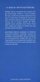 La baie du Mont-Saint-Michel - 4ème de couverture - Format classique