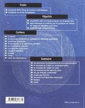 L'Objet Par Java Initiation Au Langage (Base) Cours Et Exercices - 4ème de couverture - Format classique