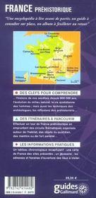 France Prehistorique (Premiers Hommes, Objets Quotidiens, Art P - 4ème de couverture - Format classique