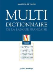 Multidictionnaire de la langue francaise 4e ed. - Couverture - Format classique