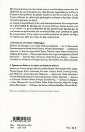 Spinoza au XIX siècle - 4ème de couverture - Format classique