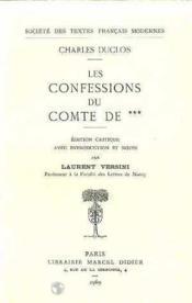 Les confessions du comte de*** - Couverture - Format classique