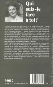 Qui Suis-Je Face A Toi? : Analyse Transactionnelle Et Relations Humaines - 4ème de couverture - Format classique