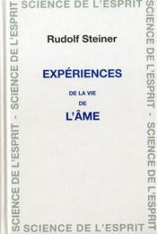 Experience De La Vie De L'Ame - Couverture - Format classique