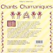 Chants Chamaniques - 4ème de couverture - Format classique