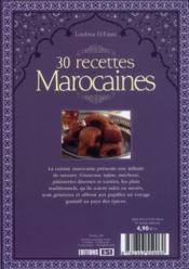 30 recettes marocaines - 4ème de couverture - Format classique