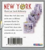 Petit pop-up panoramique t.2 ; New York - 4ème de couverture - Format classique