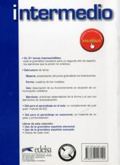 Uso de la gramatica española ; intermedio (édition 2010) - 4ème de couverture - Format classique