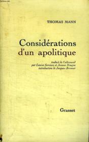 Considerations D Un Apolitique. - Couverture - Format classique