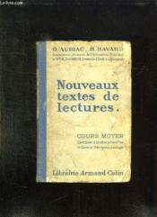 Nouveaux Textes De Lectures. Cours Moyen. - Couverture - Format classique