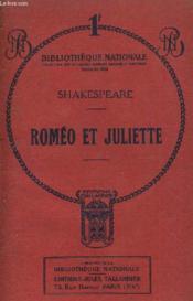 Romeo Et Juliette - Tragedie En Cinq Actes Et En Prose. - Couverture - Format classique