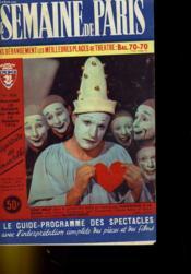 Une Semaine De Paris - Le Guide-Programme Des Spectacles N°516 - Couverture - Format classique