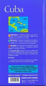 Guide Evasion Cuba - 4ème de couverture - Format classique