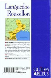 Guides Bleus ; Languedoc Roussillon - 4ème de couverture - Format classique
