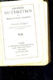 Journee Du Chretien Ou Manuel De Prieres Journalieres - Nouvelle Edition Augmentee Du Chemin De La Croix Et Du Rosaire / N°94. - Couverture - Format classique