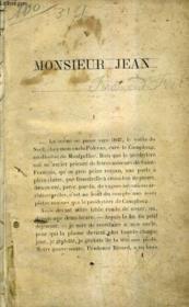 Monsieur Jean. - Couverture - Format classique