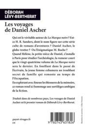Les voyages de Daniel Ascher - 4ème de couverture - Format classique