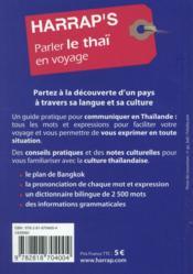 Parle le thaï en voyage - 4ème de couverture - Format classique