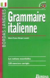 Grammaire italienne - Intérieur - Format classique