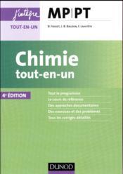 Chimie tout-en-un MP-PT (4e édition) - Couverture - Format classique