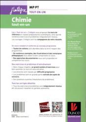 Chimie tout-en-un MP-PT (4e édition) - 4ème de couverture - Format classique