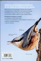 Reconnaître facilement les oiseaux du jardin ; photos grandeur nature - 4ème de couverture - Format classique