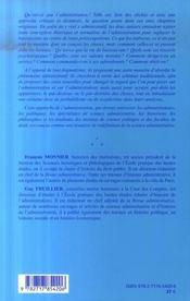 Administration verites et fictions - 4ème de couverture - Format classique