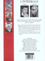 Bob Morane ; intégrale t.12 ; miss Ylang-Ylang s'en va t'en guerre - 4ème de couverture - Format classique