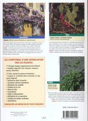 Les plantes toxiques - 4ème de couverture - Format classique