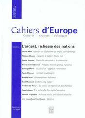 Cahiers D' Europe N 4 - Intérieur - Format classique
