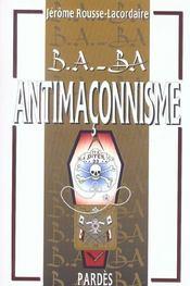 L'antimaçonnisme - Intérieur - Format classique
