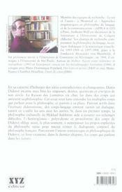 Ce Corps Qui Parle Pour Une Lecture Dialogique Diderot - 4ème de couverture - Format classique