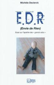 Envie De Rien - Couverture - Format classique