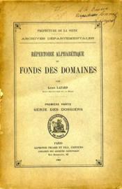 Répertoire alphabétique du fonds des domaines, par L. Lazard. - Couverture - Format classique