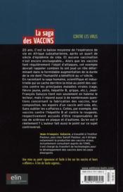 La saga des vaccins contre les virus - 4ème de couverture - Format classique